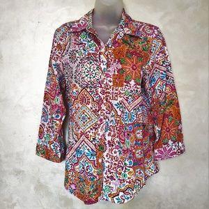 Ralph Lauren Colorful Button Down EUC M